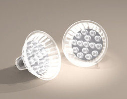 power LED lamp 3D