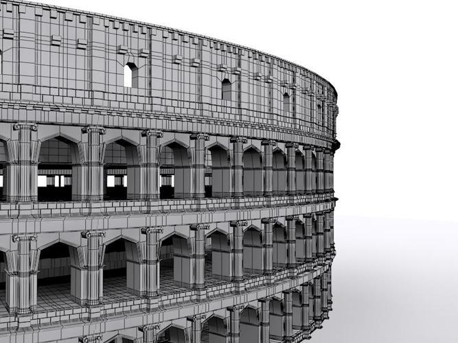colliseum 3d model max obj mtl fbx 1