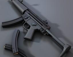 submachine gun mp5 3d model