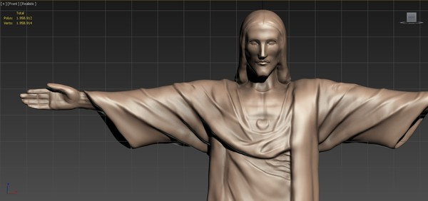 Cristo Redentor Christ the Redeemer - High-poly