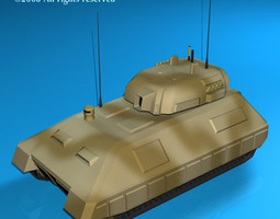 electronic war tank 3d model obj 3ds c4d dxf