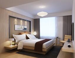 Modern Bedroom warm 3D