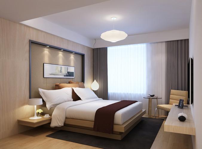 Modern Bedroom Warm 3d Cgtrader
