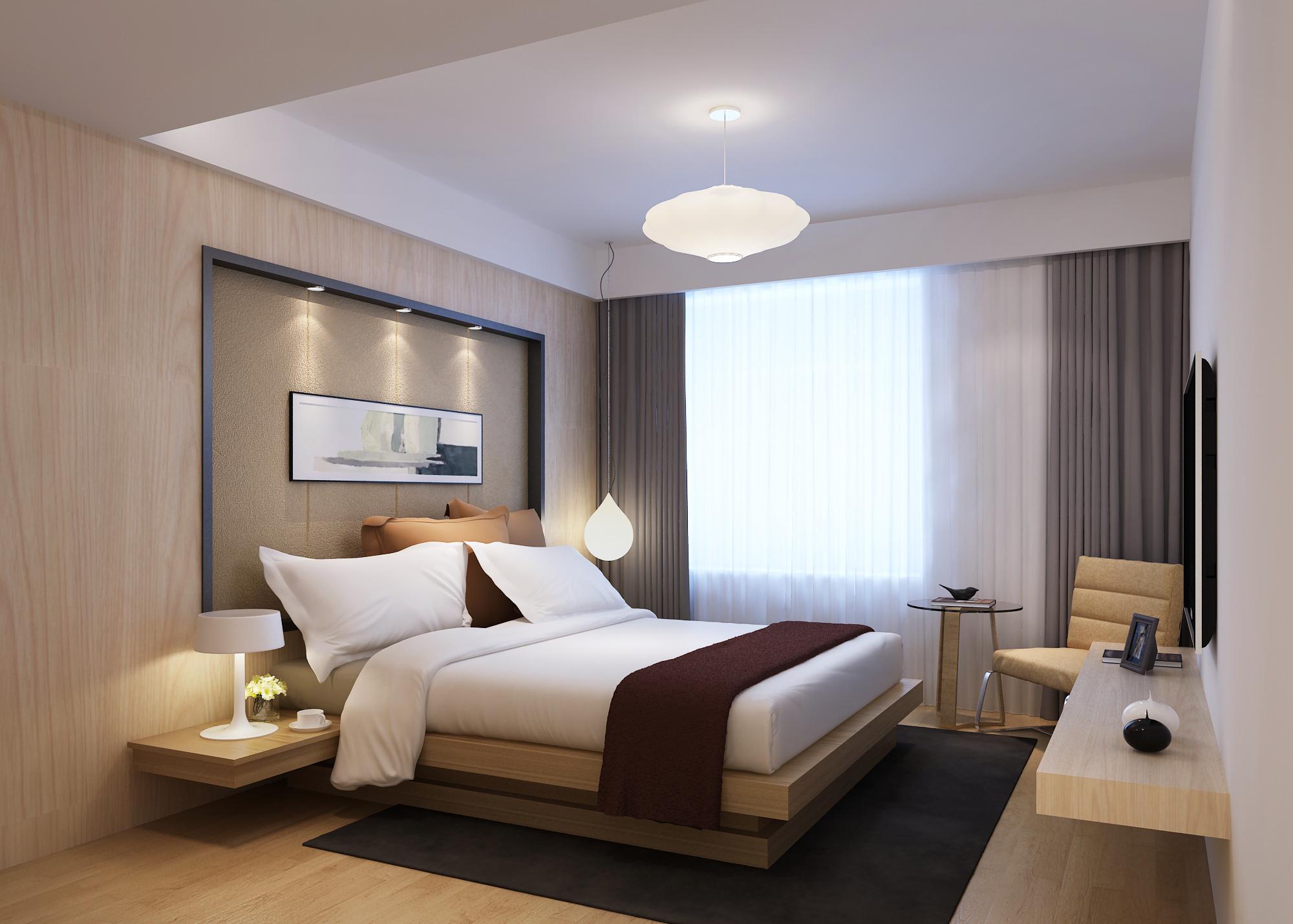 Modern Bedroom 3d Model Max Cgtrader Com