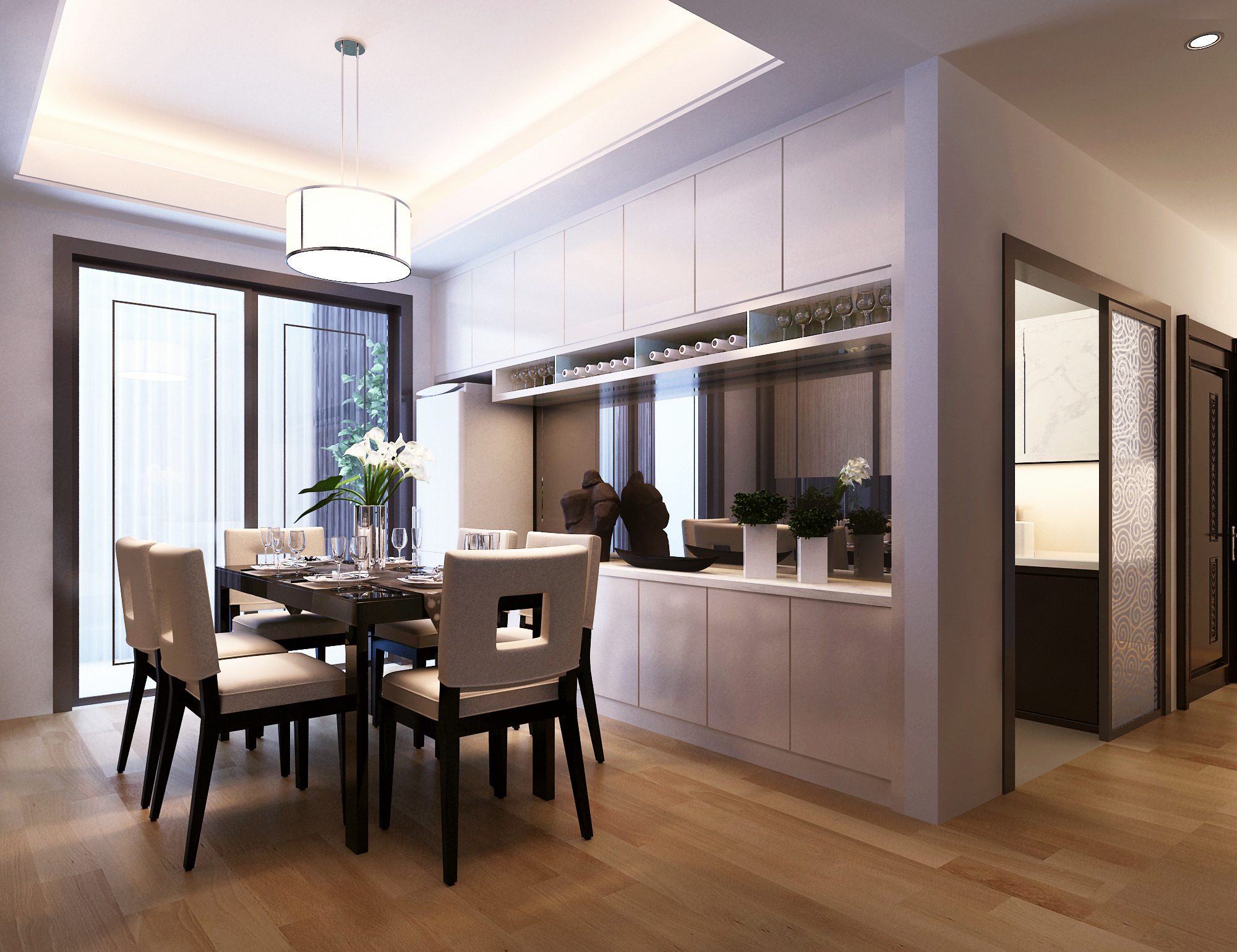 Awesome Modern Dining Room 3d Model Max 1
