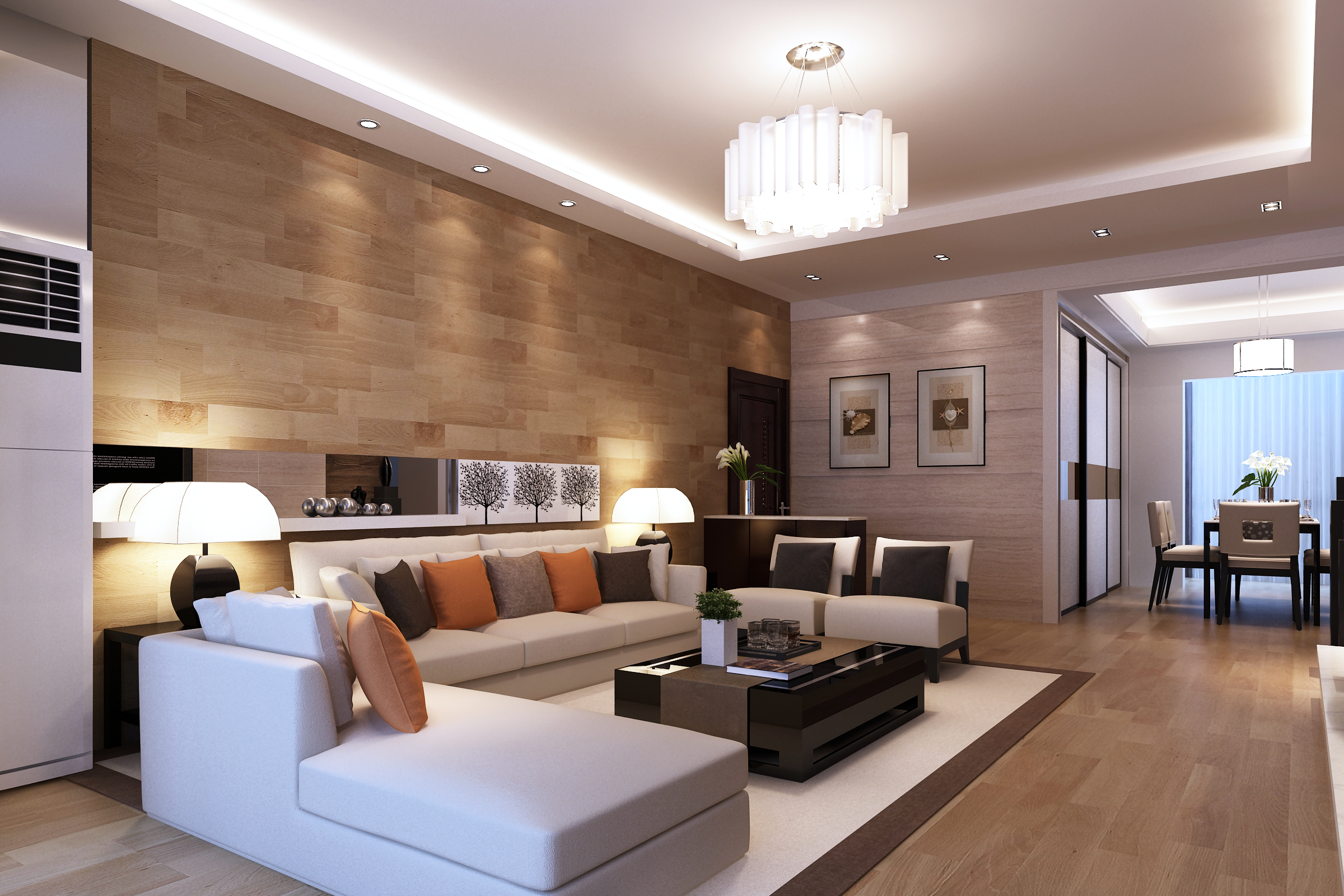 Exceptionnel Modern Living Room 3d Model Max 1 ...