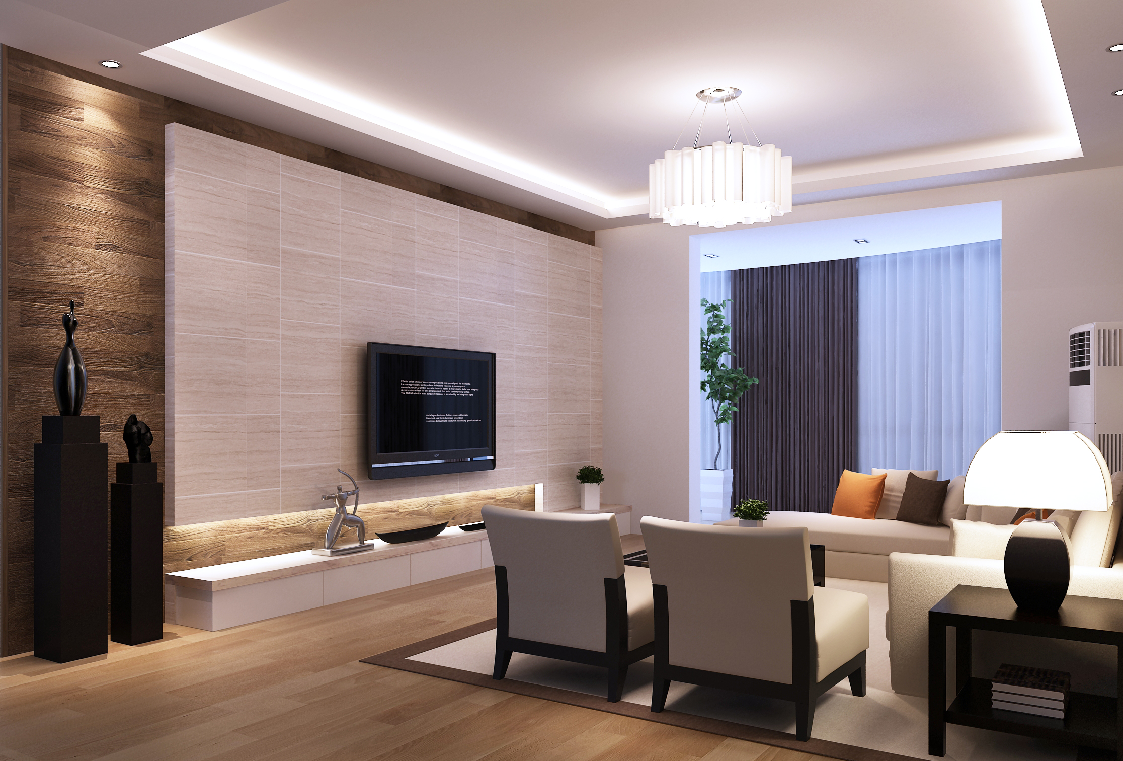 Living Room: Modern Living Room 3D Model MAX
