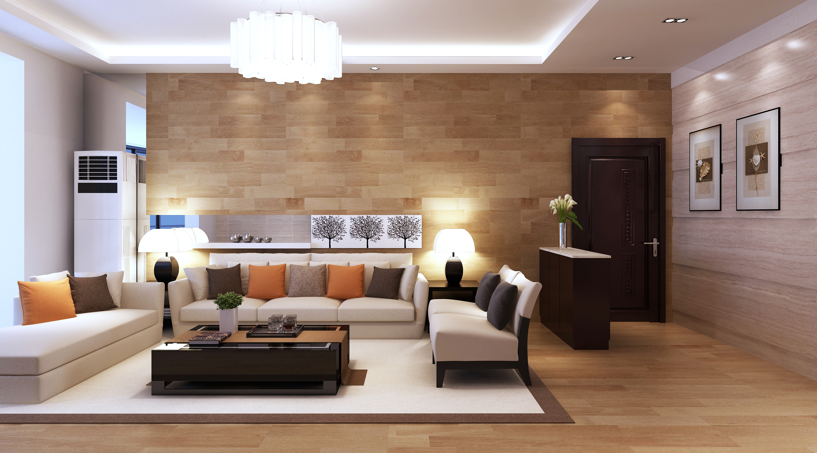 Model Living Room 3D Model Modern Living Room Architectural  Cgtrader