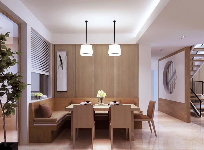 Modern dining room 3d model max for Dining room 3d max model