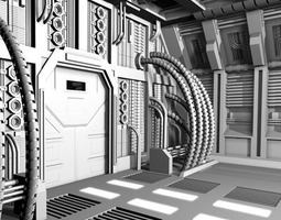 Science-fiction door 3D model