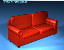 3D Leather Sofa leather