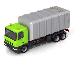 Garbage transport truck 3D model