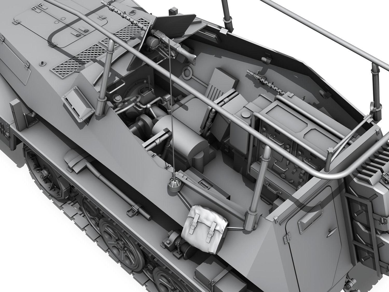 Sd Kfz 250 3 Half Track Command Version 3d Model Obj 3ds