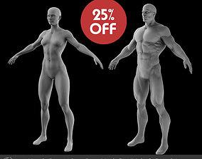 3D model Superhero Basemesh Set