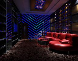 bar vip room 3d model