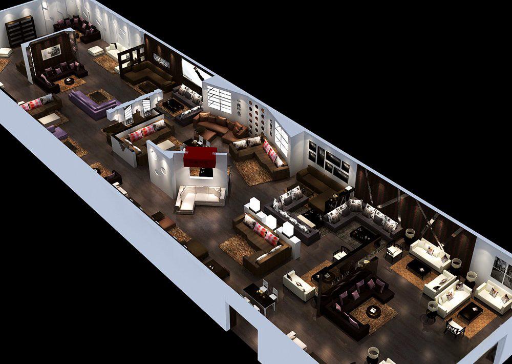 Furniture Shop Plan 3d Model Max 1
