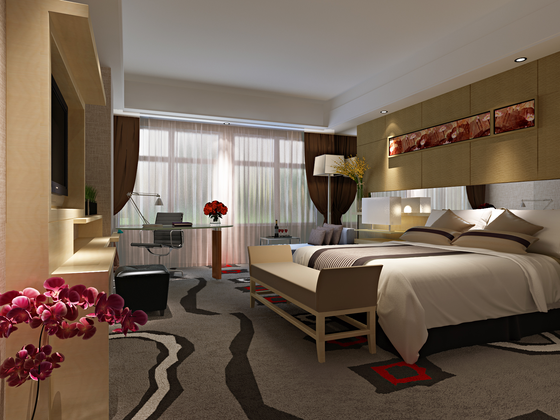 Model Bedroom modern bedroom 3d model max
