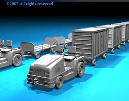 Airport baggage trailer 3D Model
