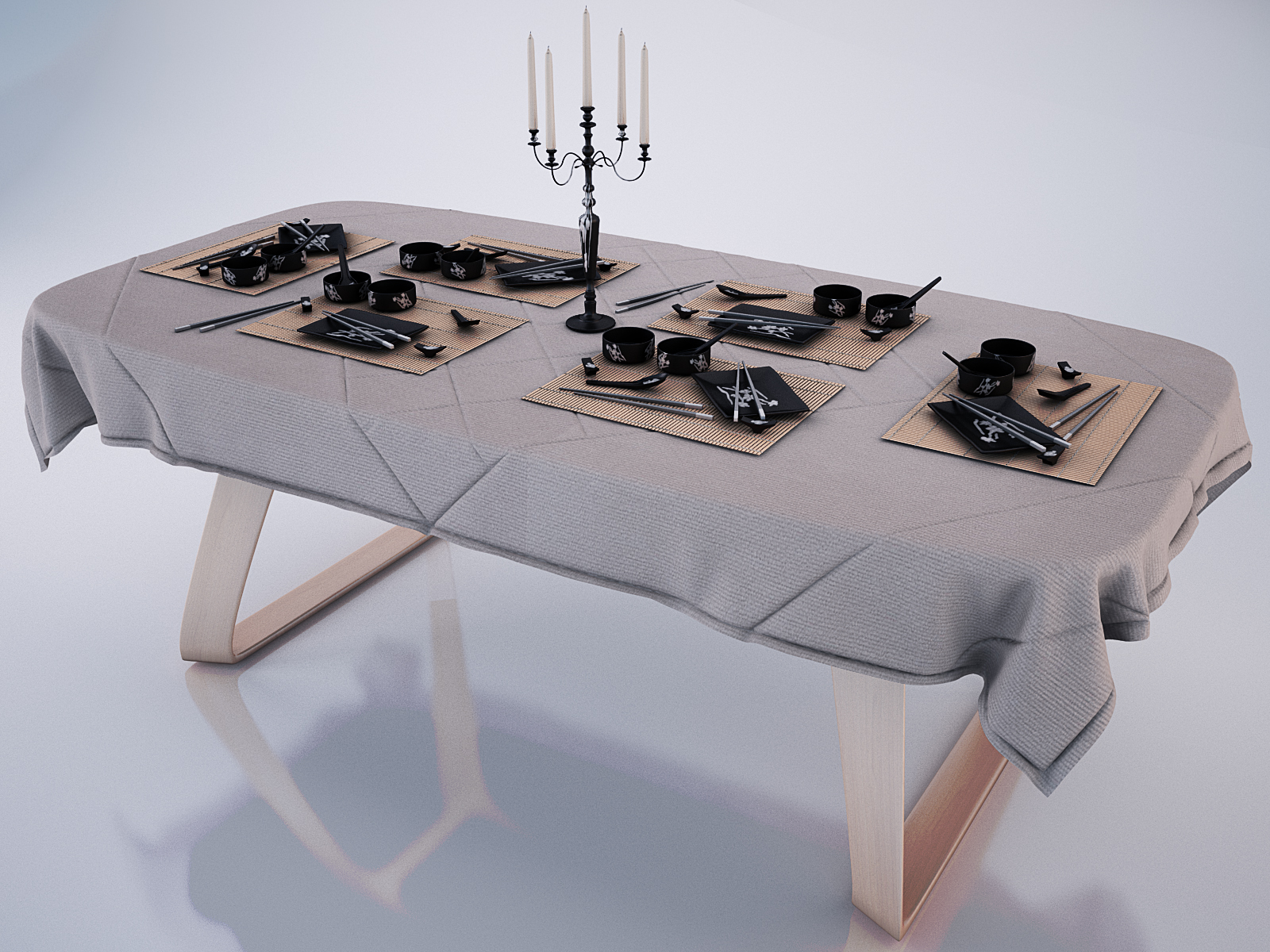 table modern brenta with tablecloth anh service d model max  . table modern brenta with tablecloth anh service d model max
