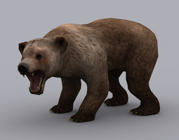3D asset BEAR ANIMATED GAME READY ANIMATED MODEL
