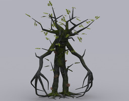 game-ready animated oak tree ent game ready animated model