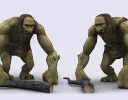 TROLL GAME READY ANIMATED MODEL animated