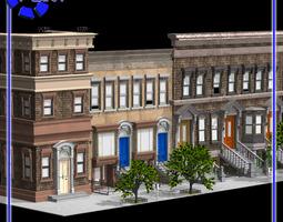 Brownstone Street Scene 1 for Poser 3D model