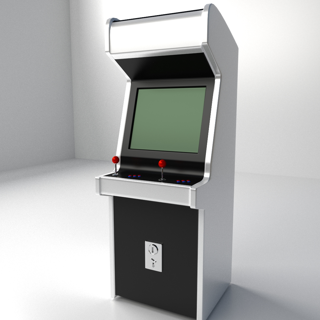 3d Arcade Machine Cgtrader