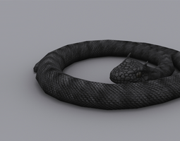 3D asset GIANT VIPER GAME READY ANIMATED MODEL