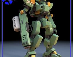 3D model Sentinel Robot Mech for Poser