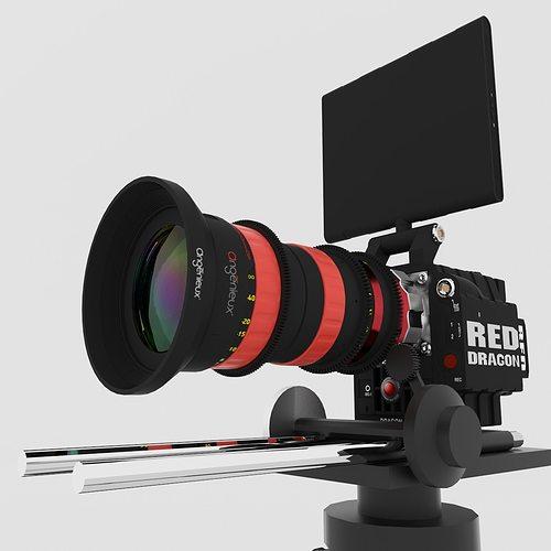 red dragon 6k angenieux optimo dp 30-80mm t2 8 3d model max obj fbx blend mtl 1