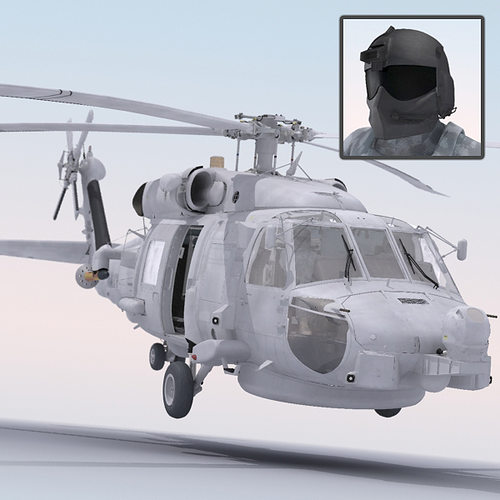 sh60 seahawk military helicopter 3d model max obj mtl 1