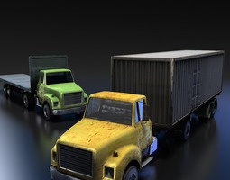 game-ready 3d asset truck tractor