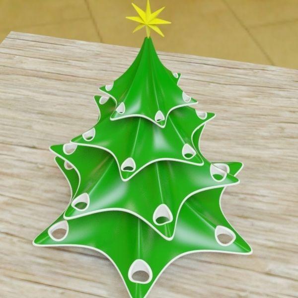 3D Printable Model Stylish Christmas Tree