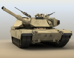 3d model rigged m1a1 abrams
