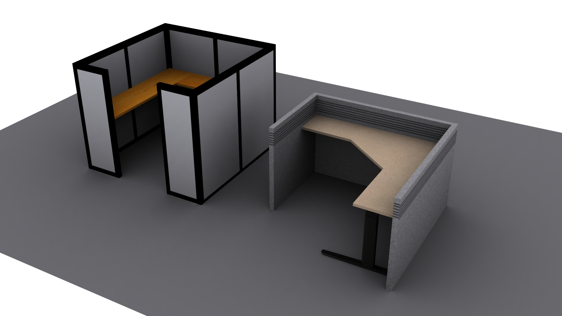 Cubicles Office Low Poly
