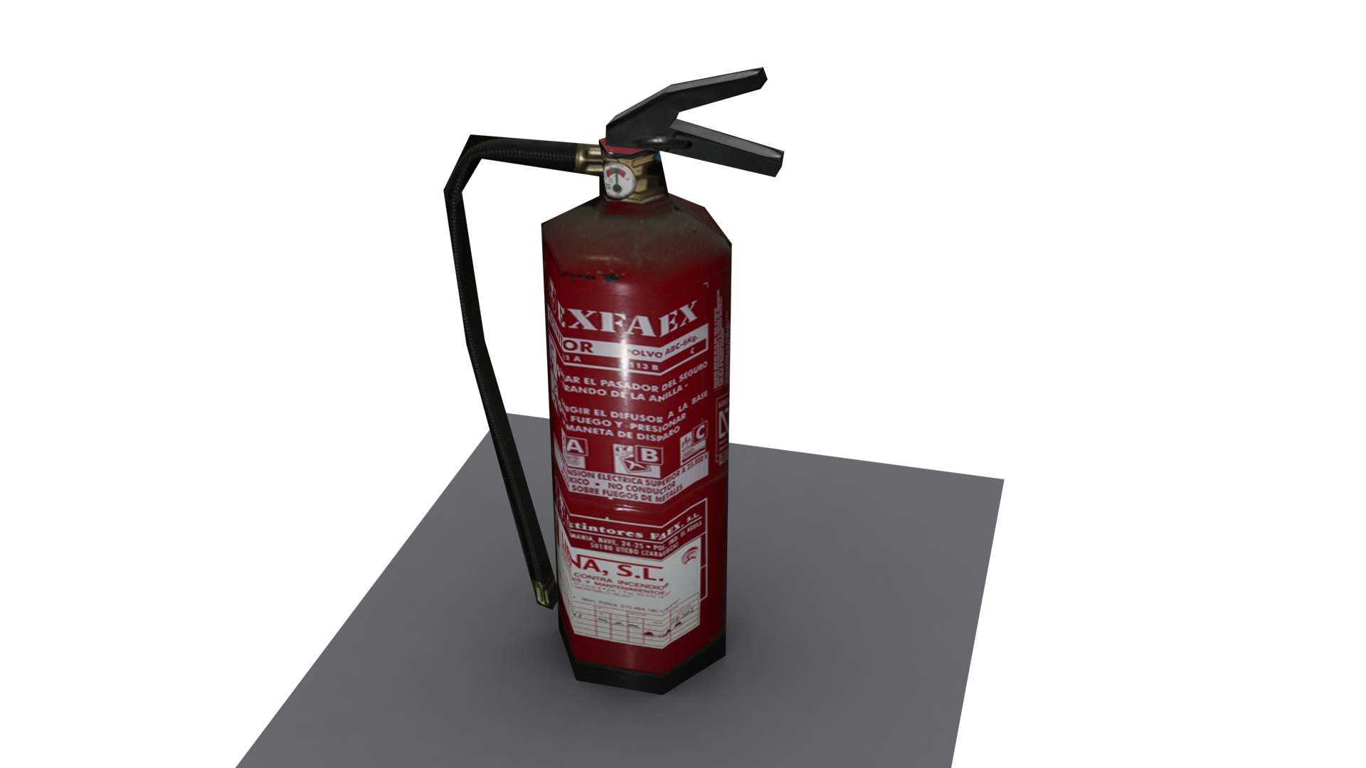 Fire Extinguisher Low poly