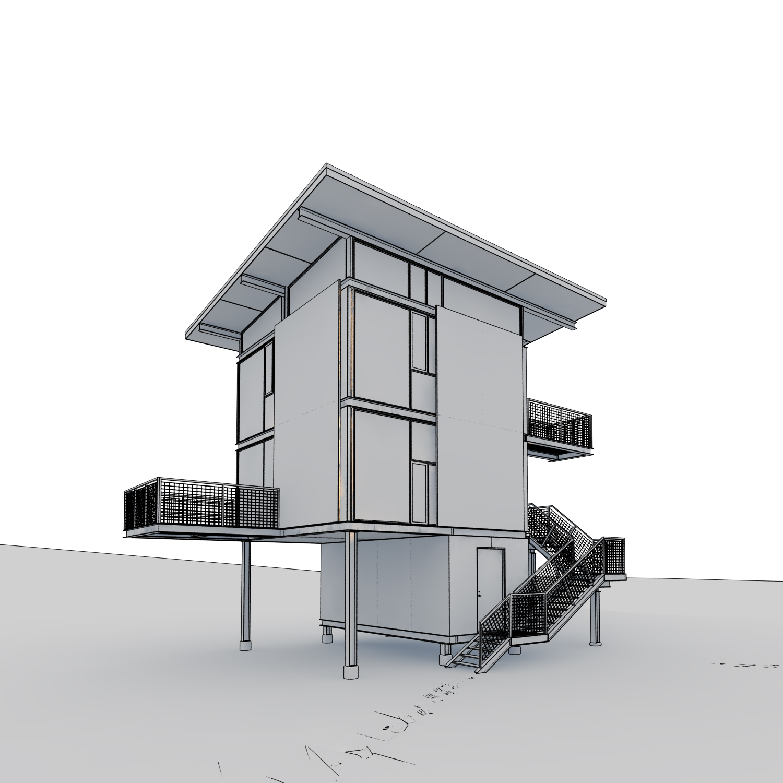 3d architecture challenge-shelter 3d model max