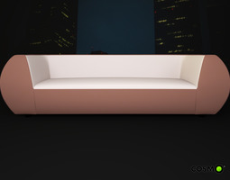 3D model Three-local sofa Pearl