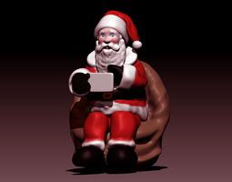 Santa Selfie 3D print model