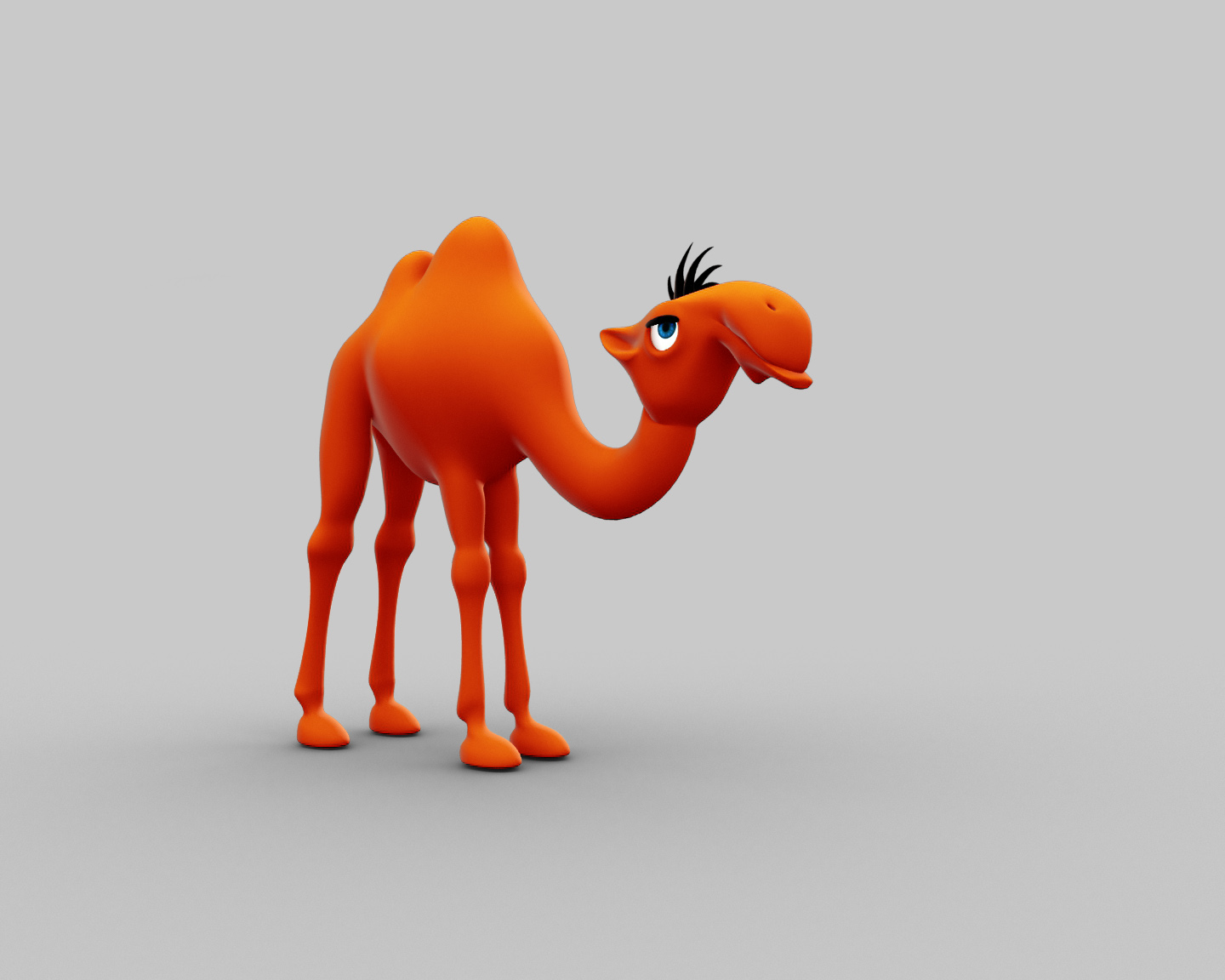 3d model camel funny cartoon character cgtrader