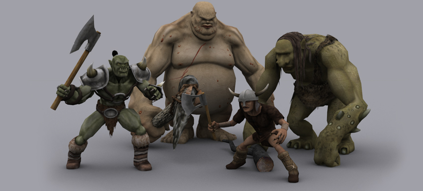 MUST HAVE FANTASY VILLAINS GAME READY ANIMATED MODELS