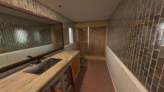 Bathroom 3d model architecturechallenge cgtrader for 3d bathroom models
