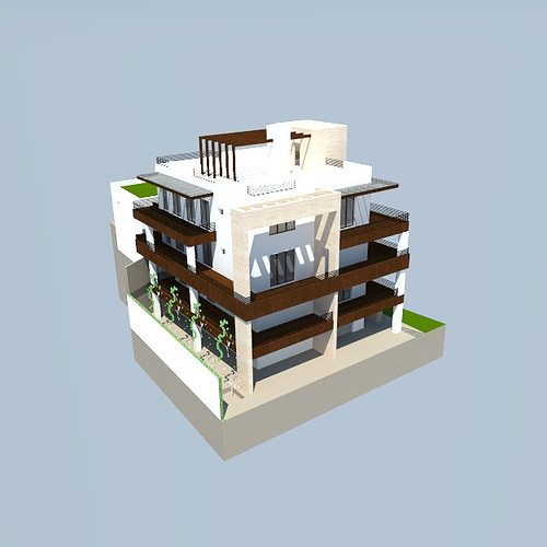 big house 3d model skp 1