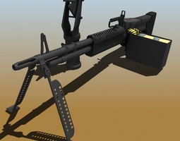 M60 Machine Gun 48589 3D model