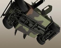 3D HMMMWV Military Humvee Camouflaged