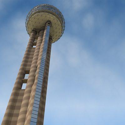 reunion tower dallas texas 3d model max obj mtl 3ds c4d lwo lw lws ma mb 1