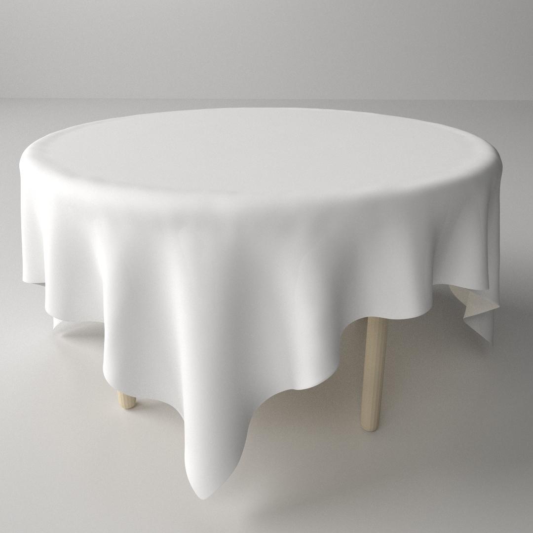 Superieur Table And Cloth 3d Model Obj 3ds Fbx Blend Dae Mtl 1 ...