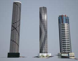 Tallest Brisbane s towers - Low poly 3D asset