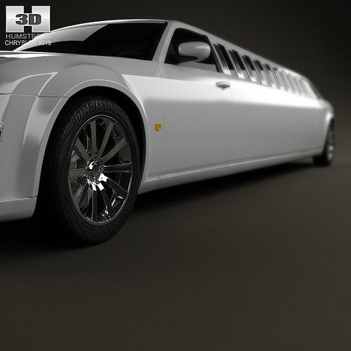 Chrysler 300C Limousine 2009 3D Model MAX OBJ 3DS FBX C4D